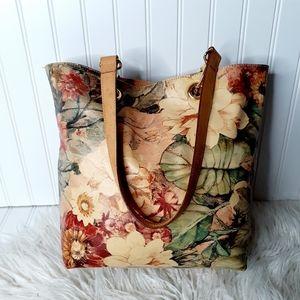Maurizio Taiuti Floral Leather Shoulder Bag